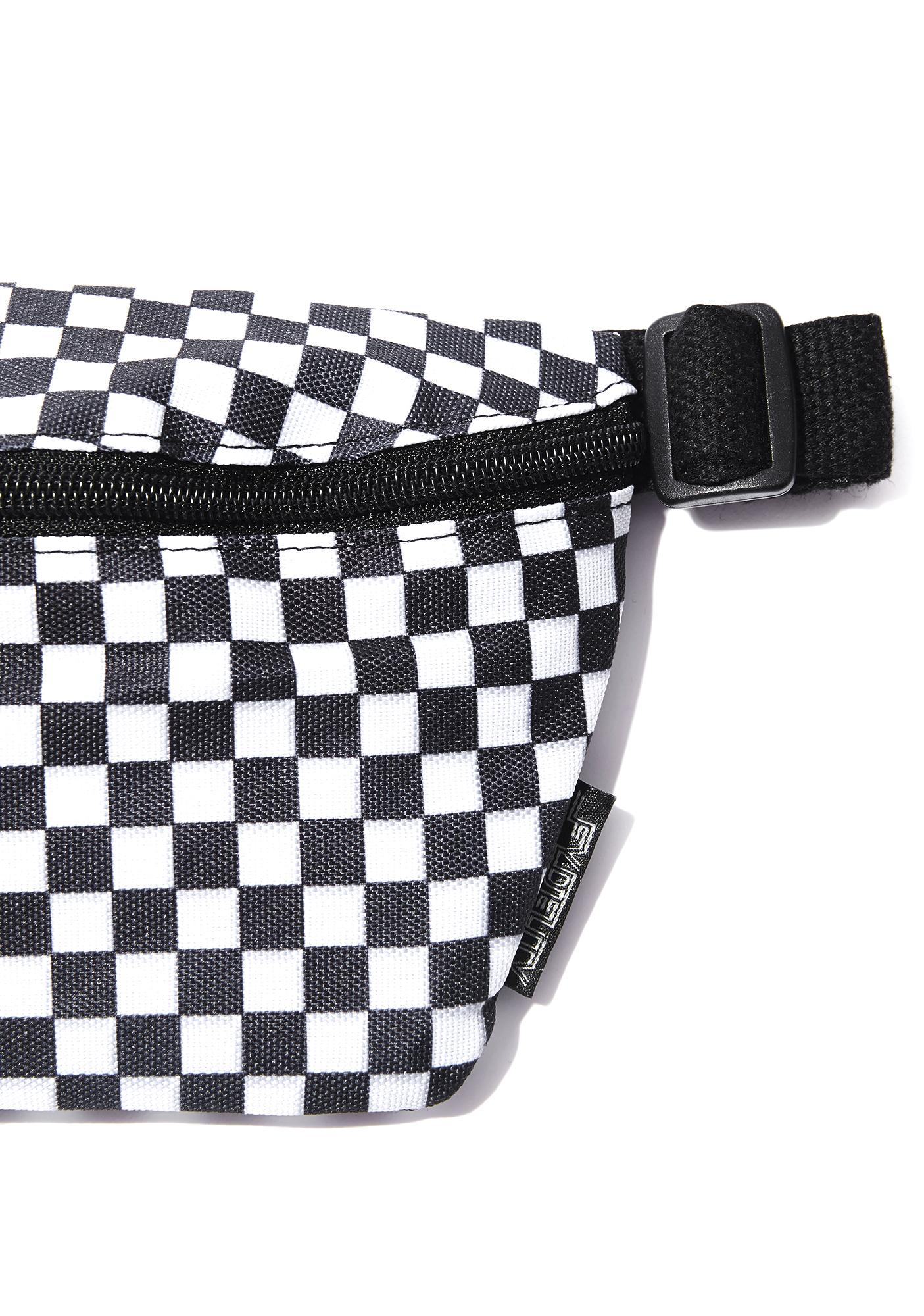 vans black and white checkerboard fanny pack