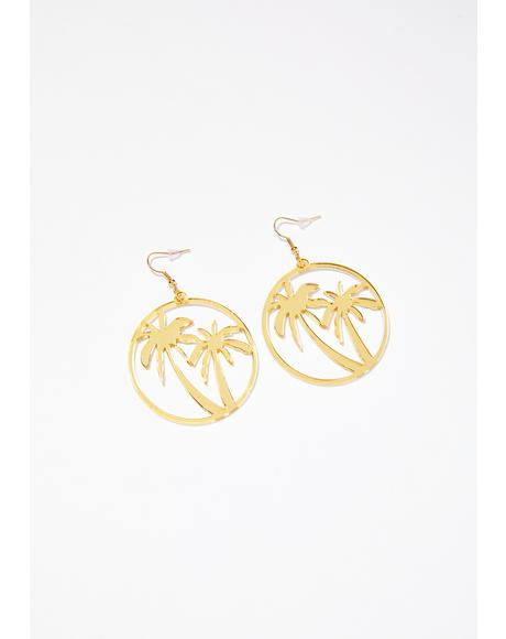 Beach Story Palm Tree Earrings