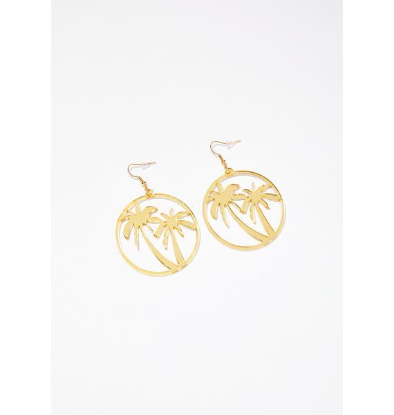 Beach Story Palm Tree Earrings