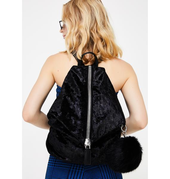Reality Runaway Velvet Backpack