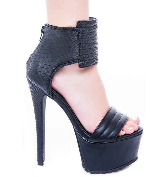 Privileged Cosmic Crush Open Toe Heel