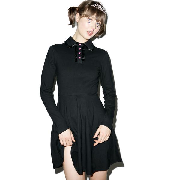 Lazy Oaf Heart Button Polo Dress