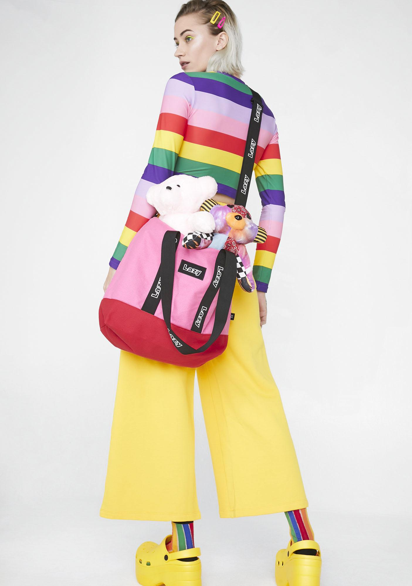 Lazy Oaf Logo Tape Tote Bag