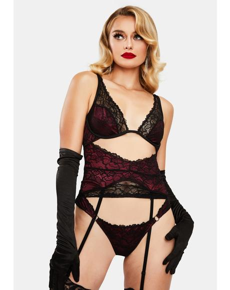 Night Shift Lace Lingerie Set