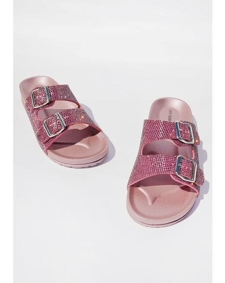 Deep Pockets Rhinestone Slides