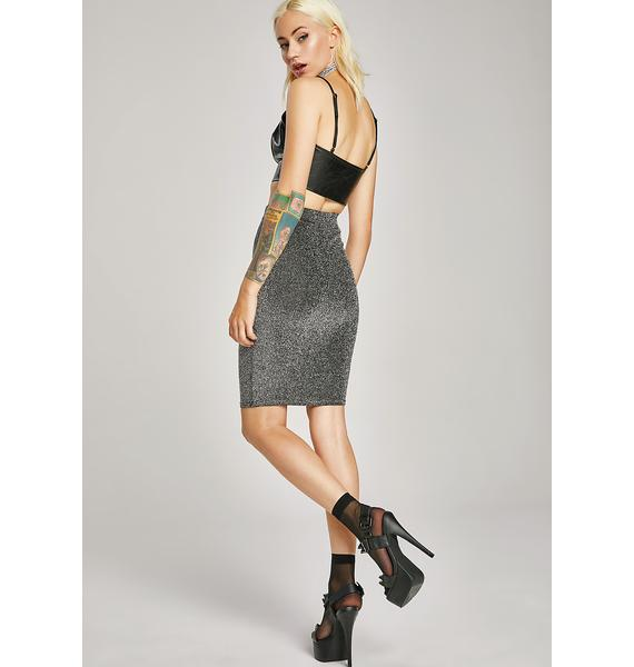 Midnight Screening Glittery Skirt