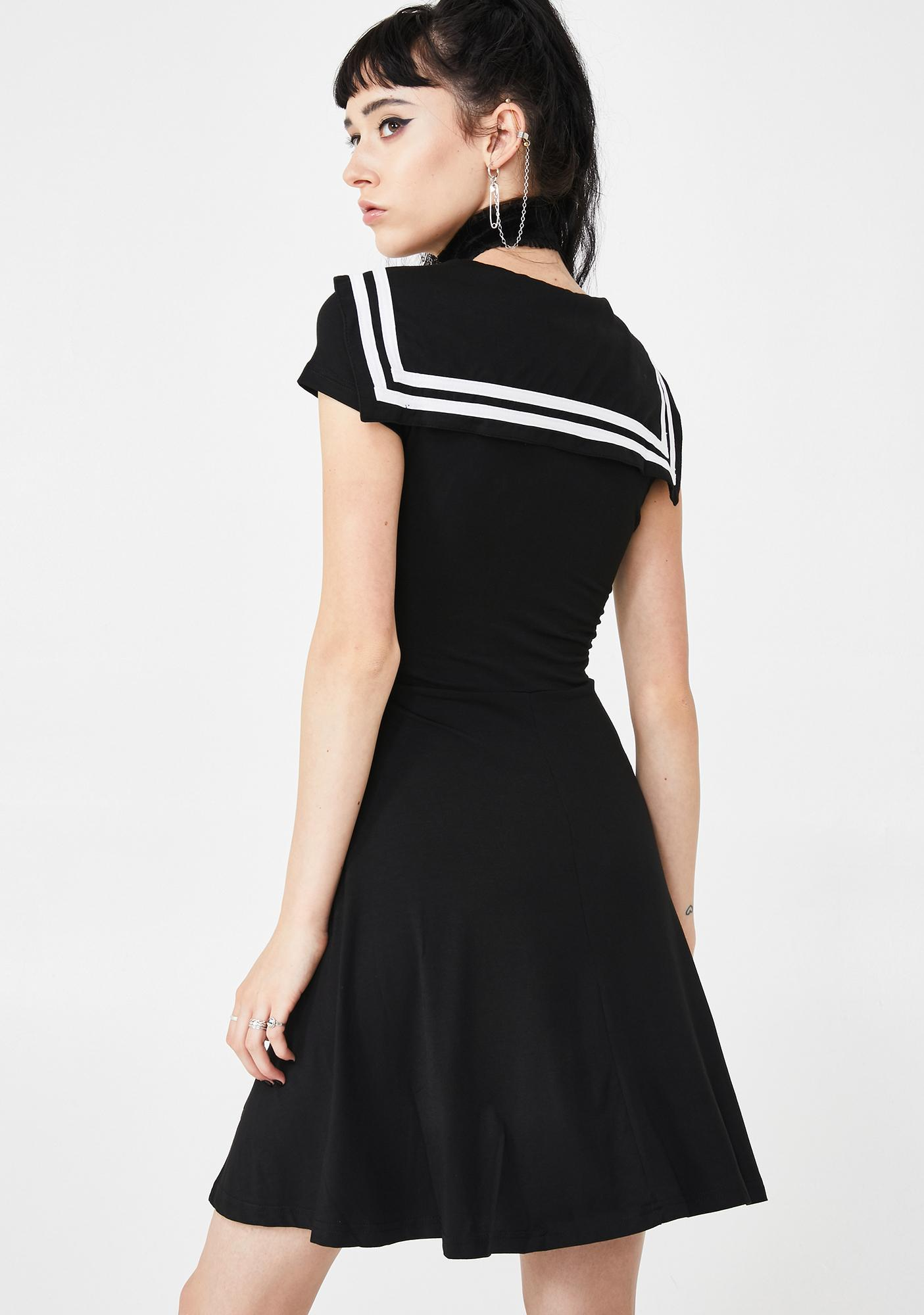 New Look Black Lace Skater Dress