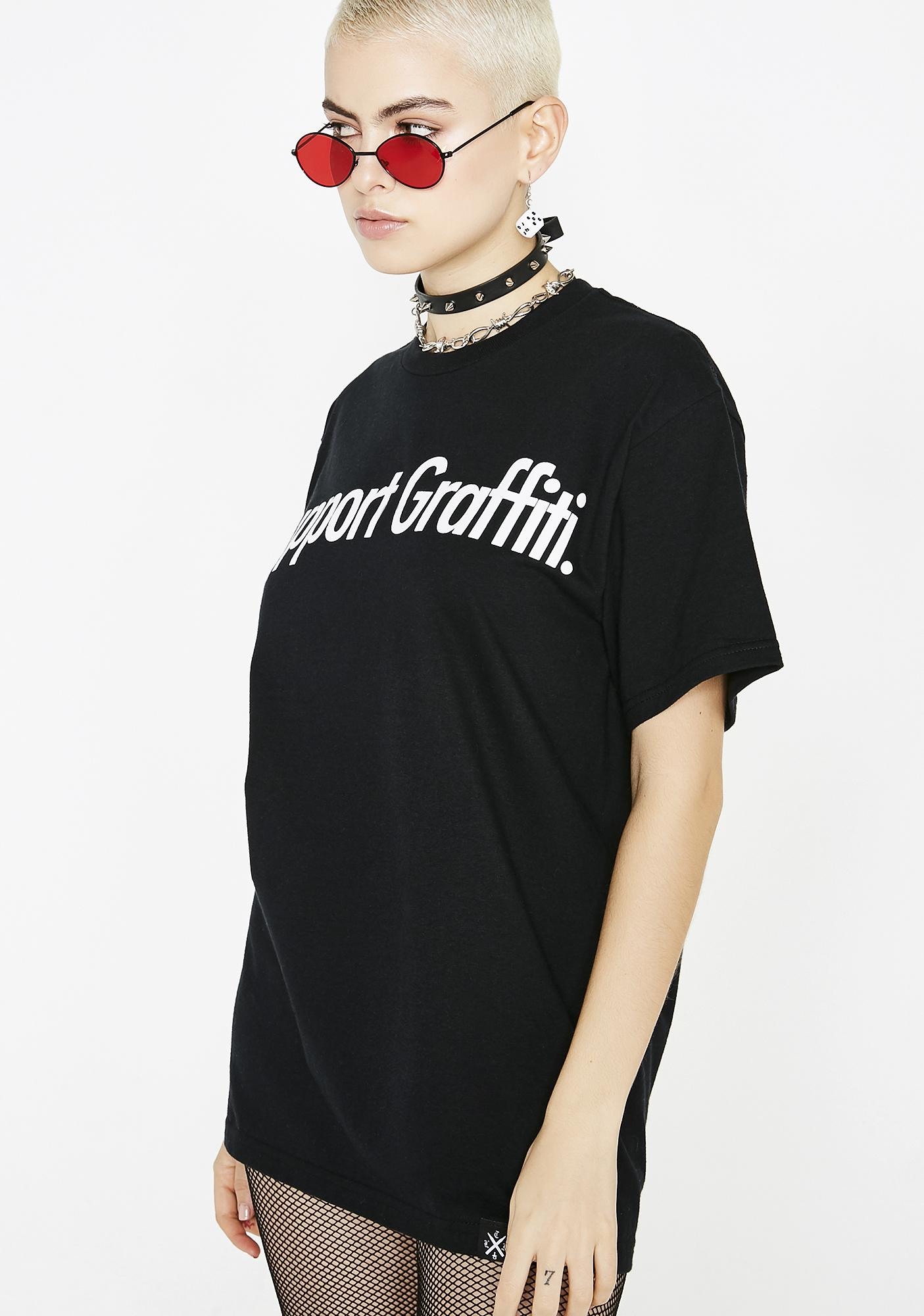 Learn To Forget  Support Graffiti Tee