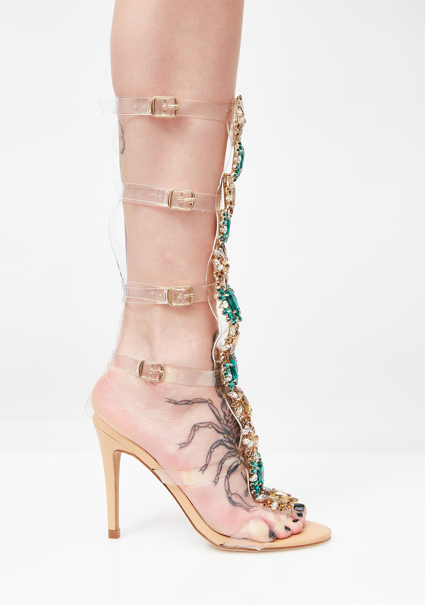 Praise Me Jeweled Heels