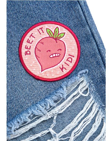 Beet It Kid Iron-On Patch
