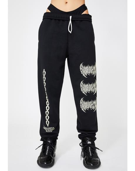 Metal Logo Sweatpants