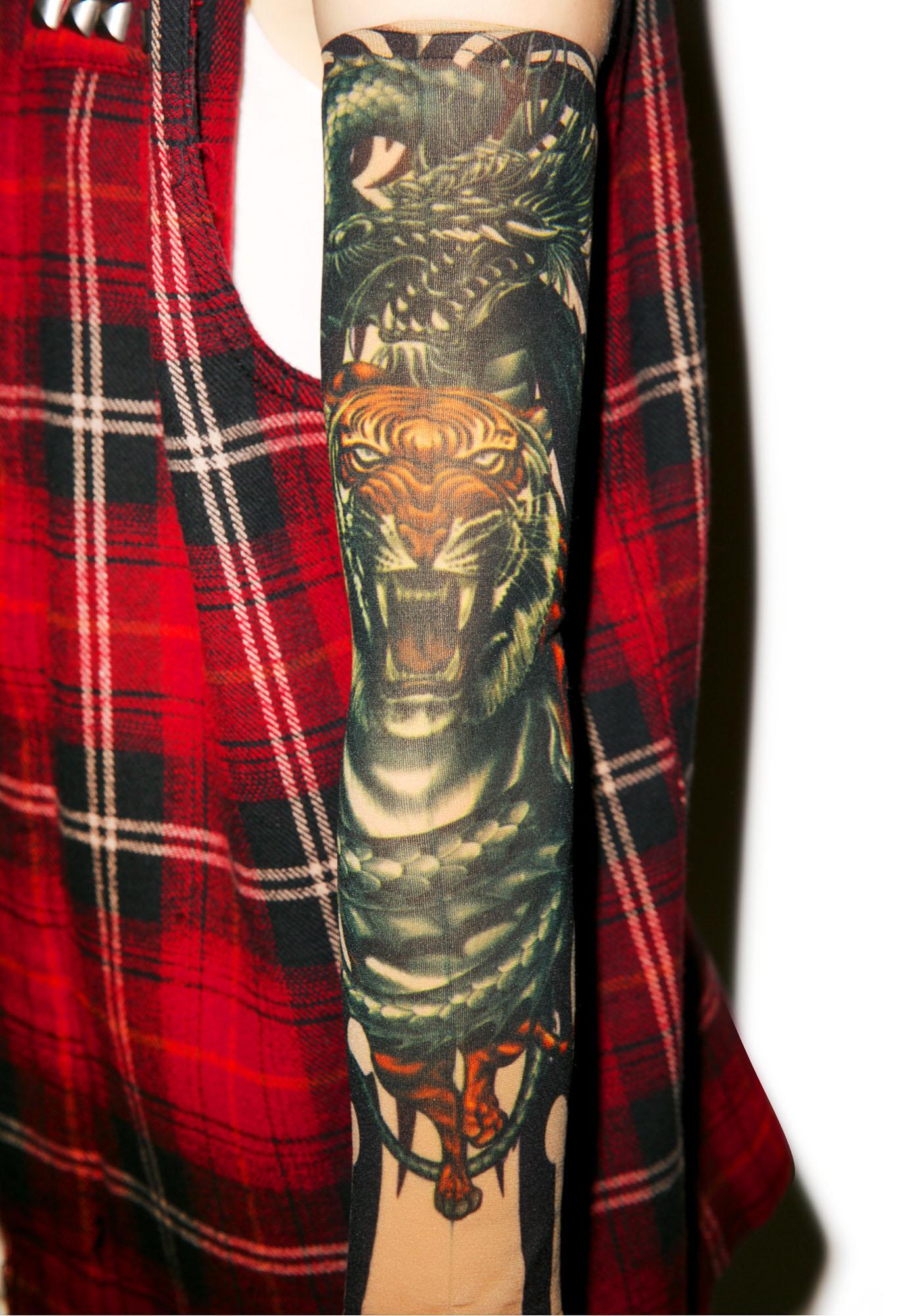 Crouching Dragon Hidden Tiger Tattoo Sleeves