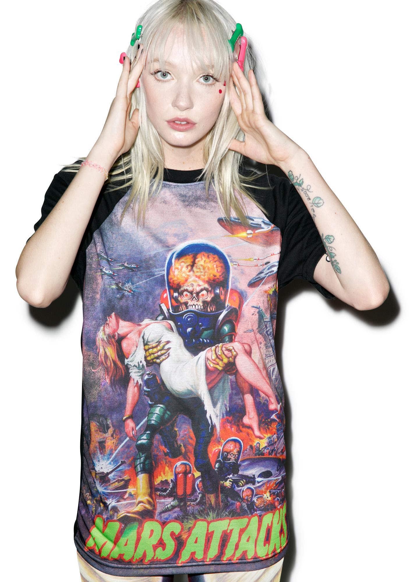 Kreepsville 666 Mars Attacks B Movie Babe Tee