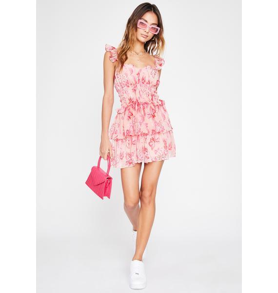 Blush Swerve Symphony Floral Dress