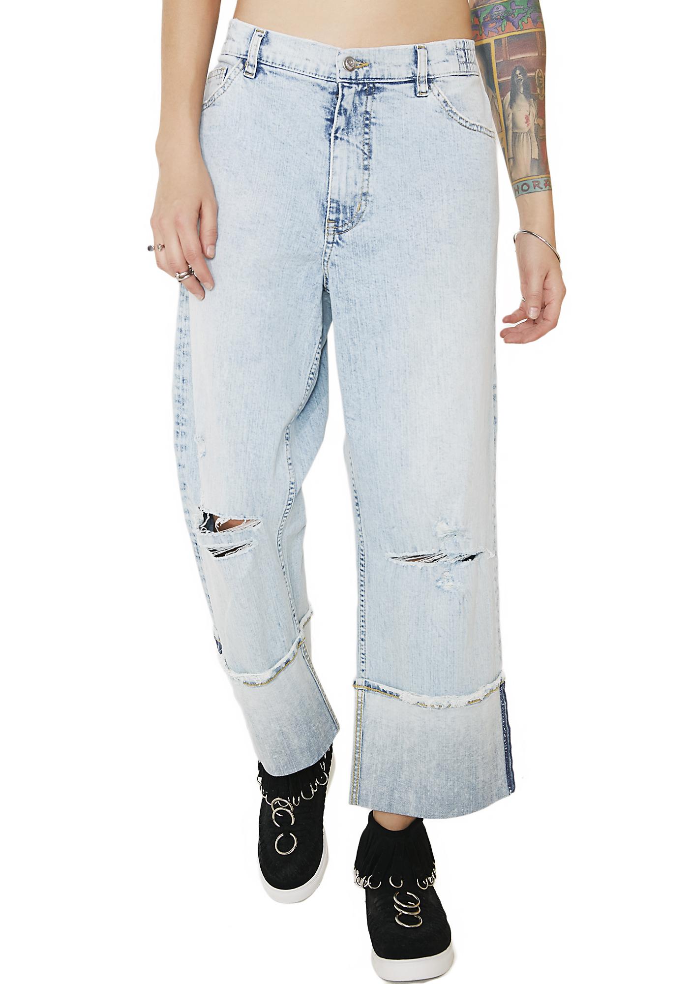 Cheap Monday Drain Blue Jeans