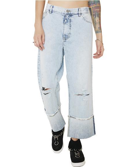 Drain Blue Jeans
