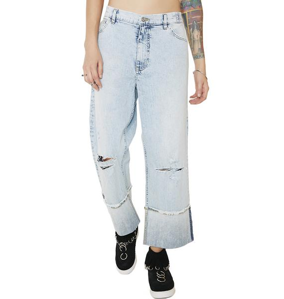 Cheap Monday Drain Blue Jeans