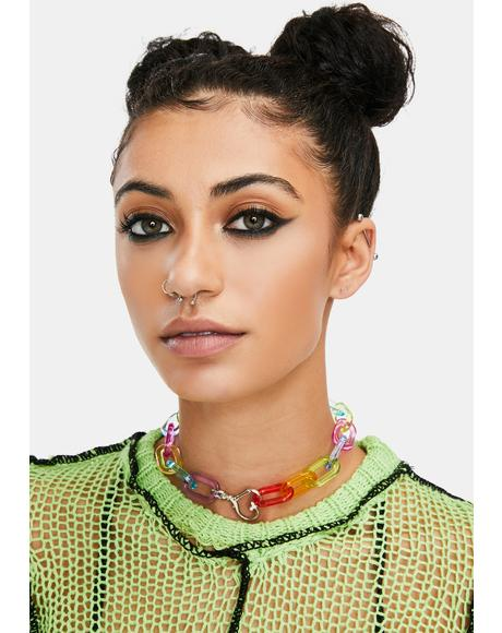 Bold Face Chunky Chain Necklace