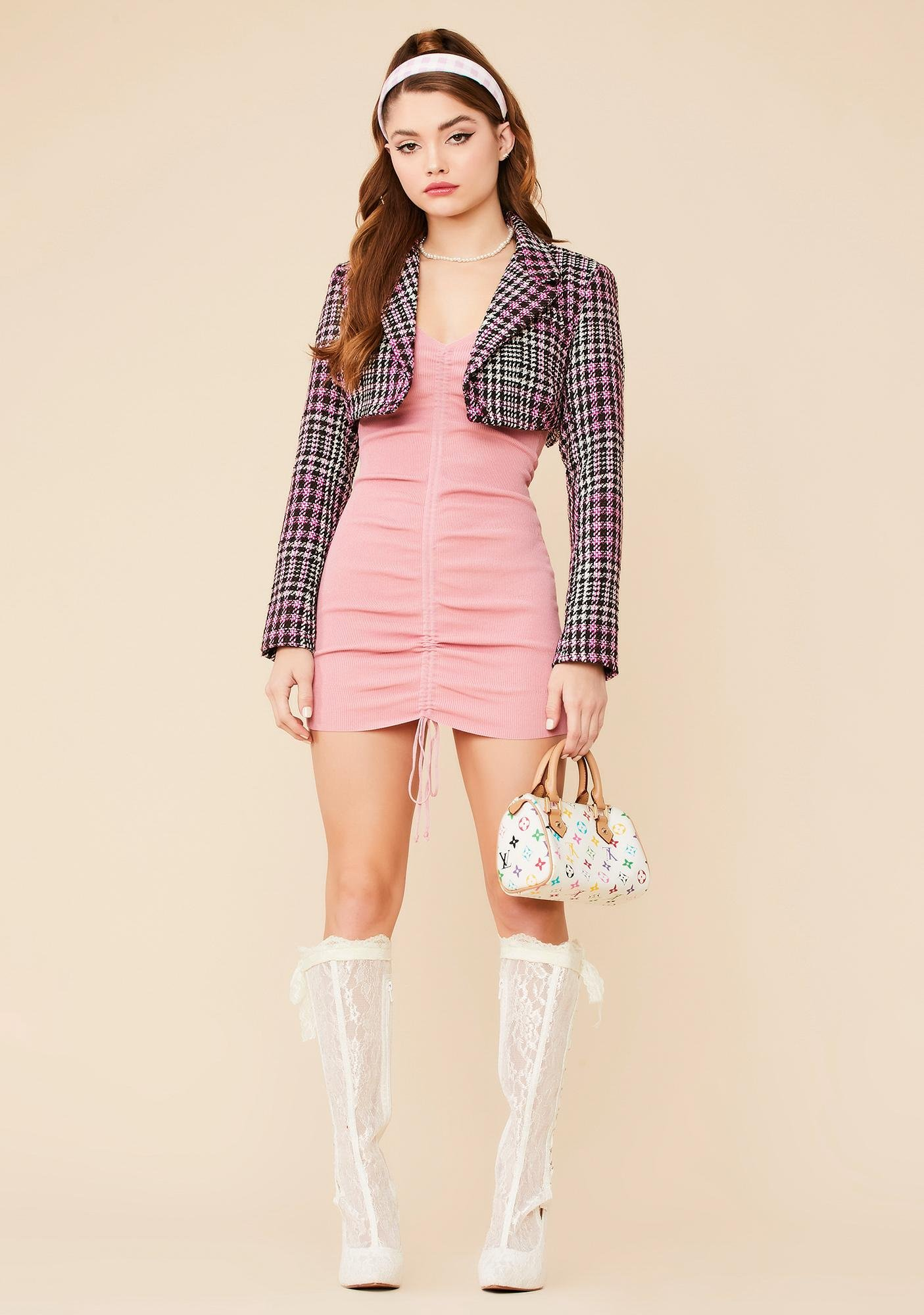 Cute Well Versed Ruched Mini Dress