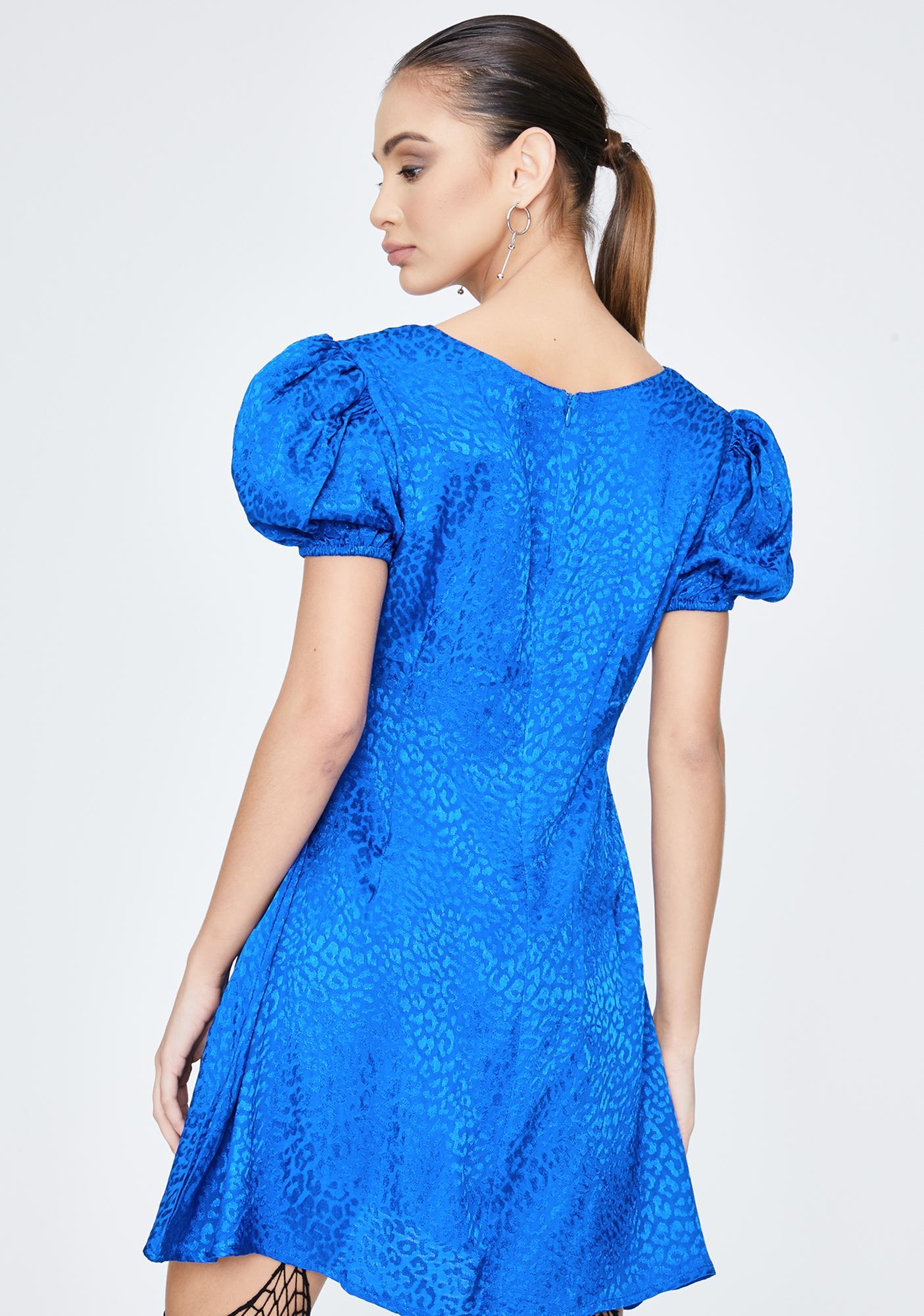 Motel Royal Blue Elfy Mini Dress