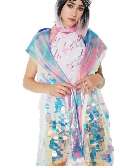 Unicorn Tears Holographic Hooded Vest