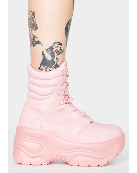 Matrixx Hi Pink Platform Sneakers