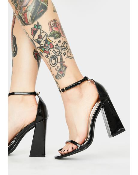 Dark Make It Look Pretty Block Heels