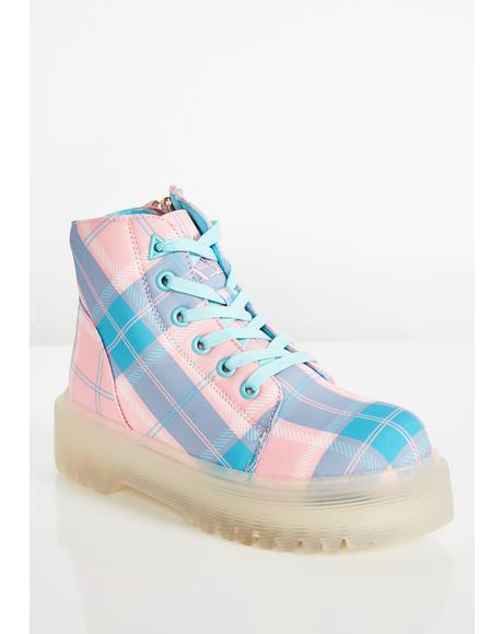 Plaid Slayr Boots