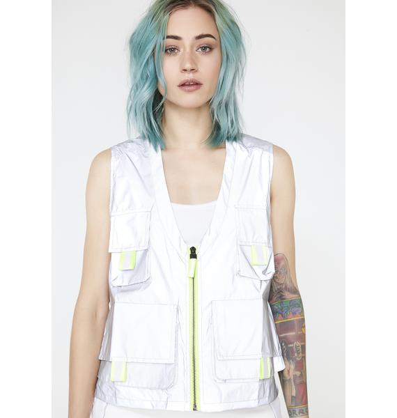 Jaded London Reflective Cargo Vest