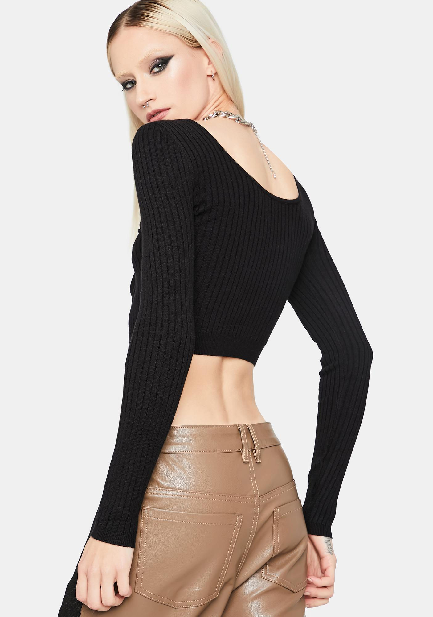 No Exceptions Ribbed Knit Crop Top