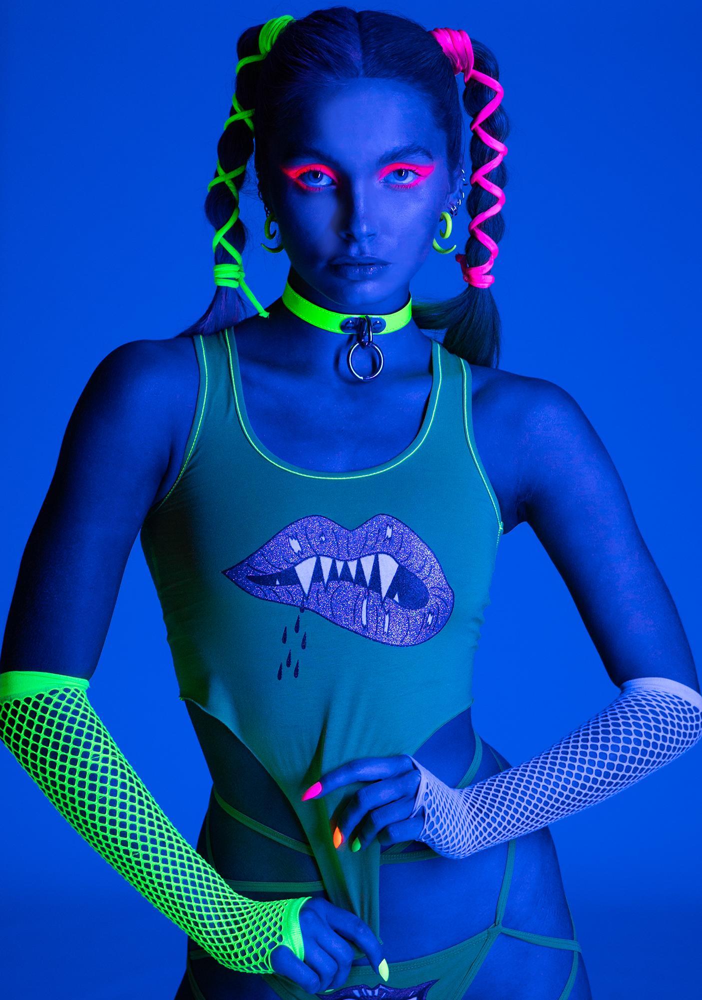 Club Exx Taste The Lasers Glitter Tank