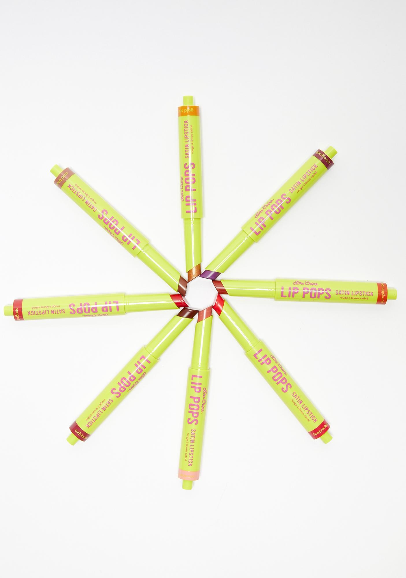 Lime Crime Oxblood Lip Pops Satin Lipstick