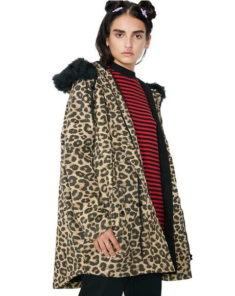 Purrfect Printed Parka