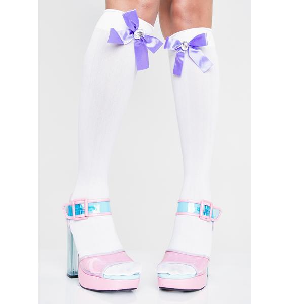 So Kneedy Bow Socks