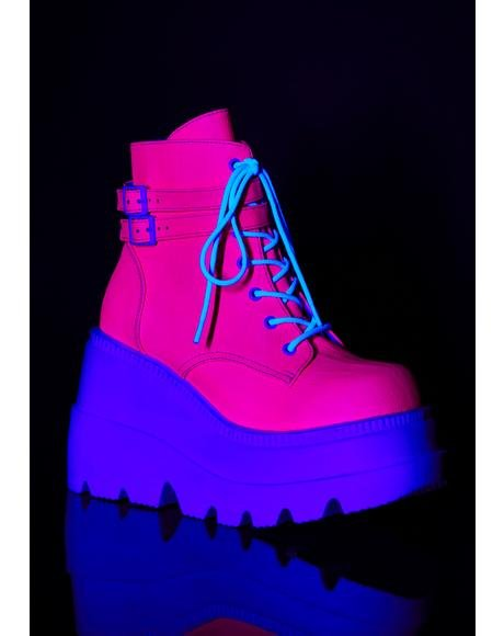 Pixie Heart UV Technopagan Boots