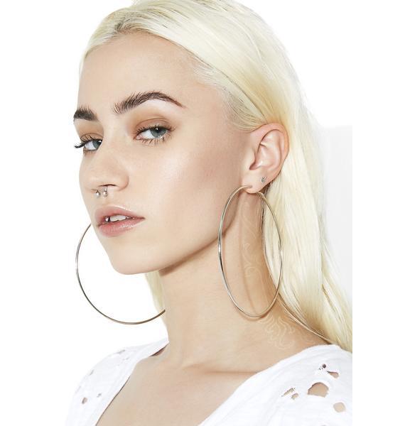From The Block Hoop Earrings