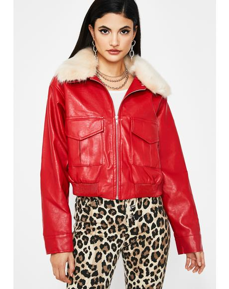 Bad Apple Cropped Jacket