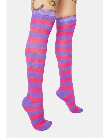 Magic Freaky Friyay Striped Knee High Socks