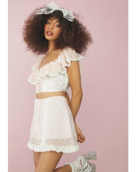 Sweet Slice Of Heaven Gingham Ruffle Top