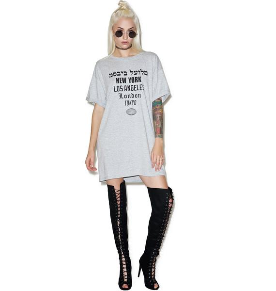 Dimepiece Worldwide Tee Dress