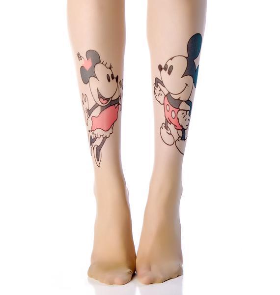 Mickey 'n Minnie Tattoo Tights