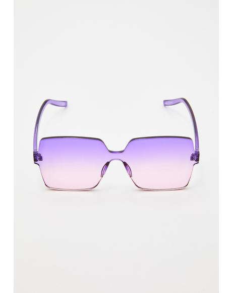 Fairy Illusion Square Sunglasses