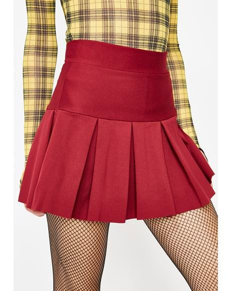 Lit Wicked Scholar Pleated Mini Skirt