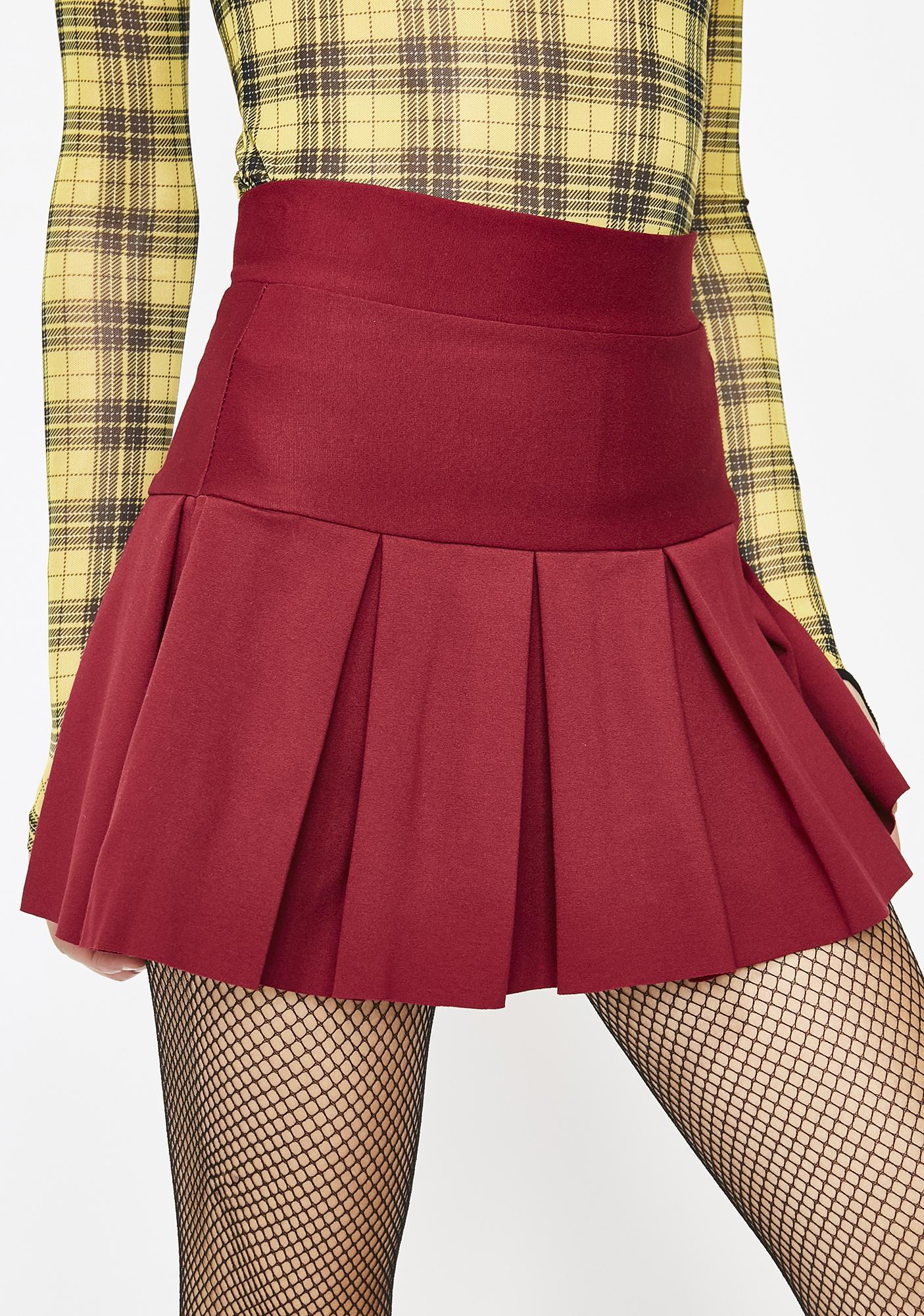 5827f5e310 Pleated A-Line Mini Skirt | Dolls Kill