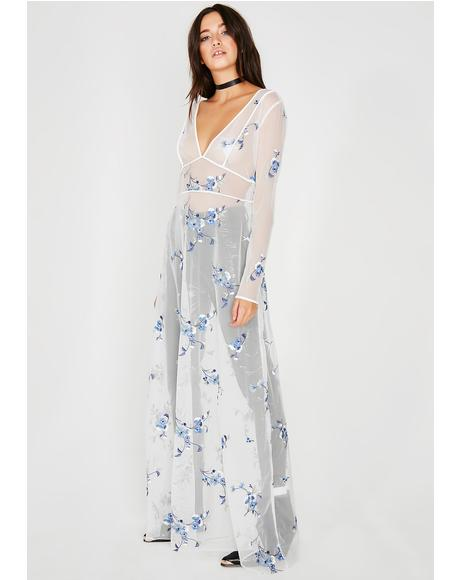 Goddess Pickin' Petals Sheer Dress