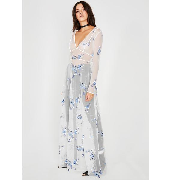 Goddess Pickin' Petals Sheer Dress