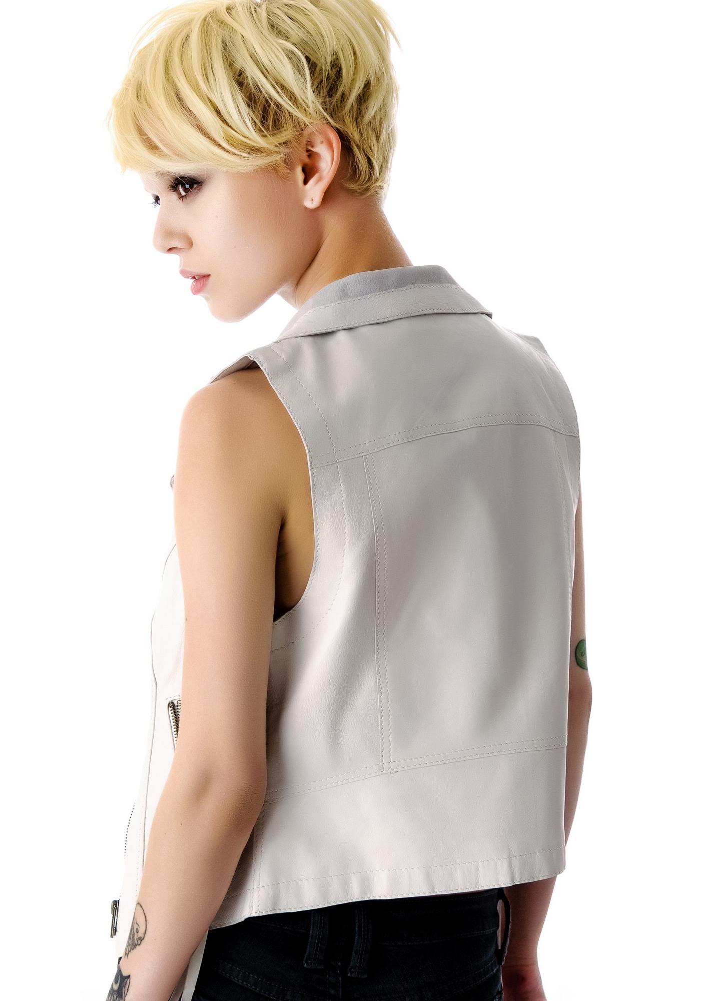 Kill City Right To Bare Arms Leather Vest