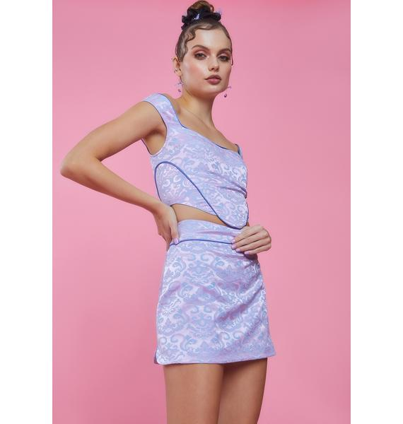 Sugar Thrillz Stole The Show Jacquard Mini Skirt