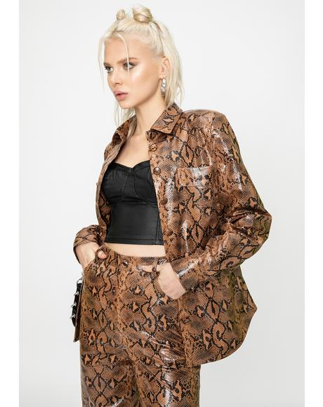Slash Snakeskin Jacket