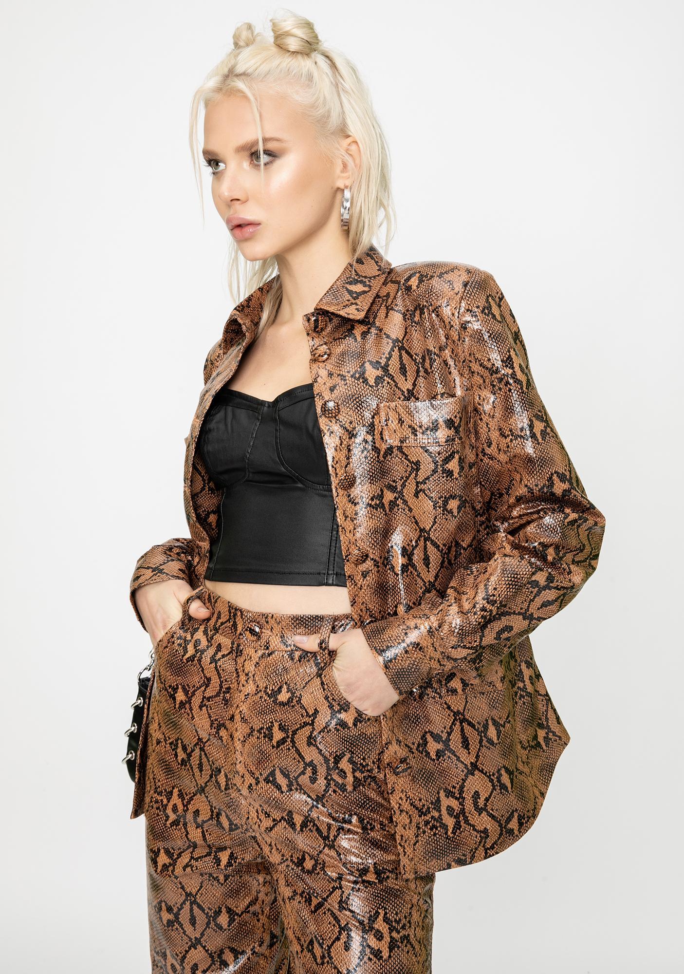 STEELE Slash Snakeskin Jacket